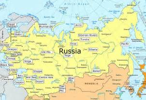 russia map clickable map of the geography of russia