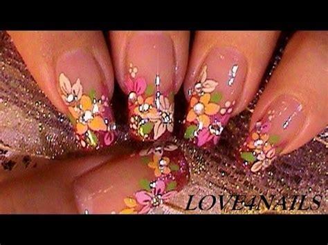 nail design flower youtube arte de u 241 as flores para el oto 241 o tutorial youtube