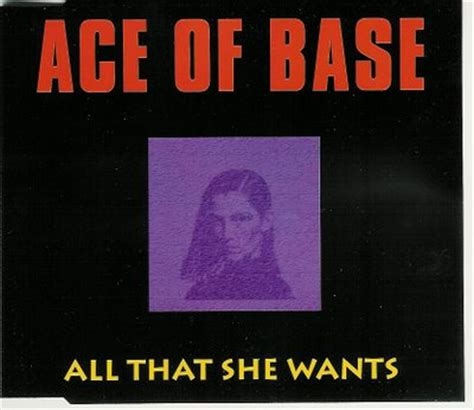 all that she wants all that she wants backing track ace of base