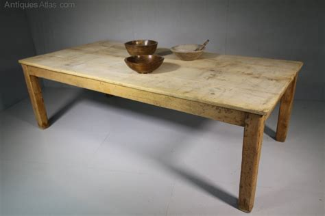 large antique sycamore farmhouse dining table