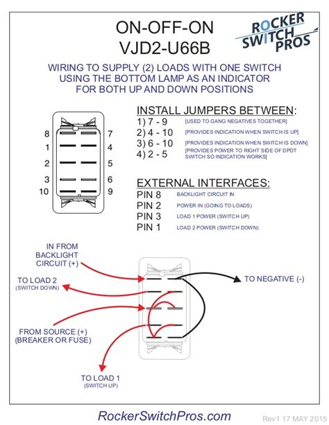 winch rocker switch wiring diagram 7 pin trailer wiring