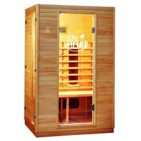 lifesmart 2 person infrared sauna with ceramic heaters and