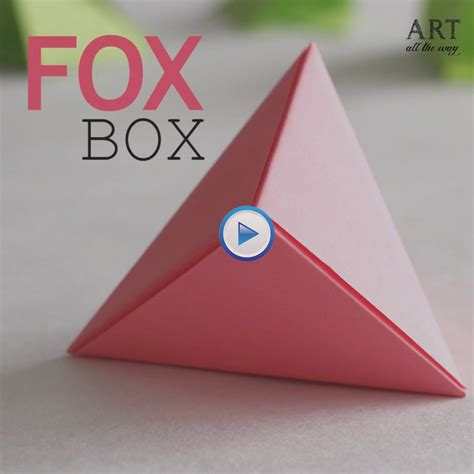 how to create 3d triangle origami fox box