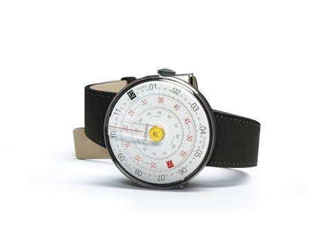 designboom watch klok 01 watch is inspired by the circular slide rule