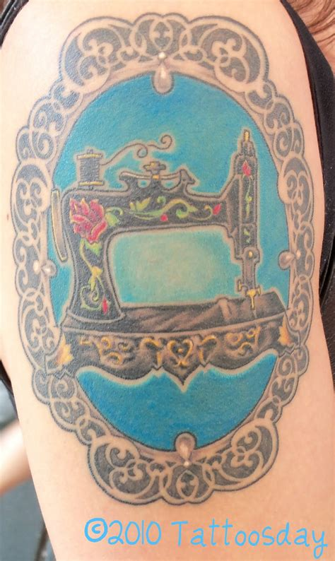 sewing machine tattoo tattoosday a sew you want a cool