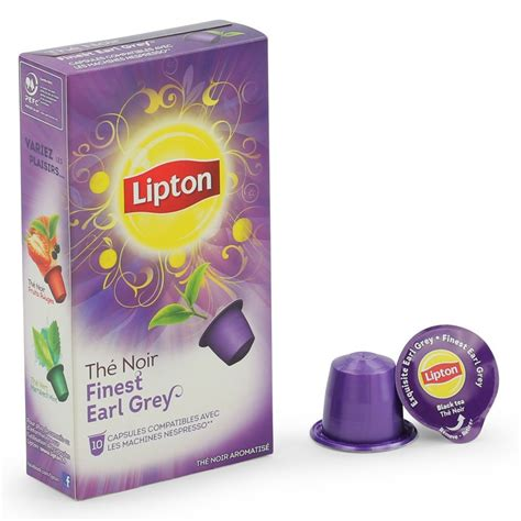 Dosette To Lipton by Capsule Nespresso Compatible Lipton Th 233 Noir Earl Grey 3