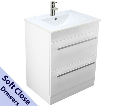 bathroom floor cabinet with drawer