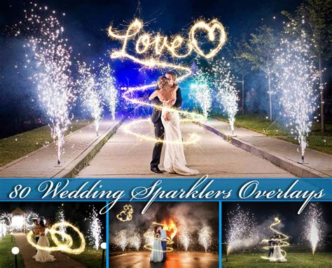 Wedding Overlay Clipart by 80 Wedding Sparklers Photoshop Overlays Wedding Sparklers