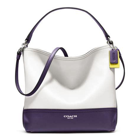 Coach Mini Marine Coach Legacy Colorblock Mini Bag In White Lyst