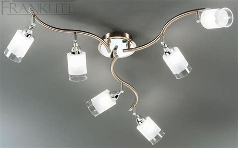 spotlight ceiling lights franklite cani 6 spotlight ceiling light spot8776