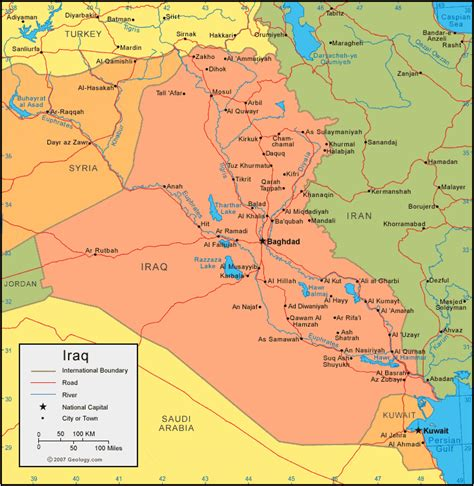 map for iraq iraq map and satellite image