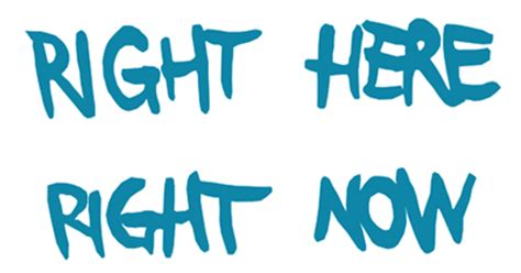 is right now right here right now graphic connect4climate