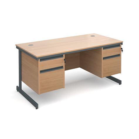 double desk office furniture double pedestal desks new used office furniture
