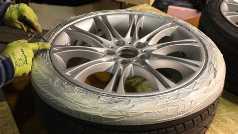 how to repair and paint bmw alloy wheels at home