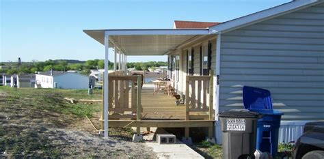 Mobile Home Patios by Custom Attached Awning Mobile Home San Antonio