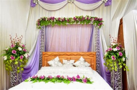 flower decoration for bedroom purple curtain for amazing bridal bedroom decoration with