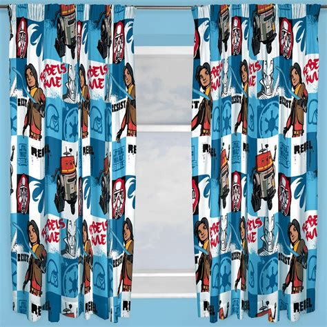 star wars curtains disney star wars rebels tag curtains 66 quot x72 quot inch drop