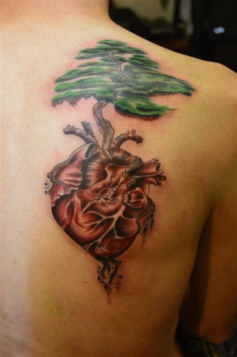 heart tree tattoo tree growing from like this idea tattoos