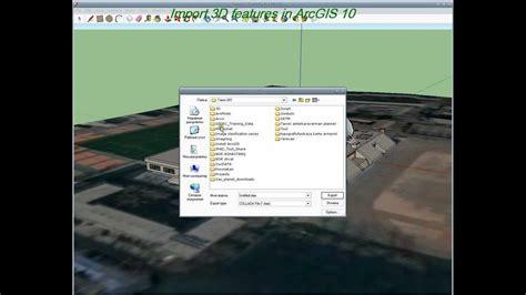 arcgis arcscene tutorial arcgis 10 import 3d features in arcscene 10 youtube