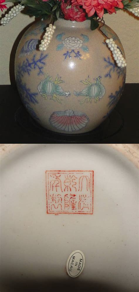 Old Chinese Vases Marks On Chinese Porcelain Porcelain Marks On Macau