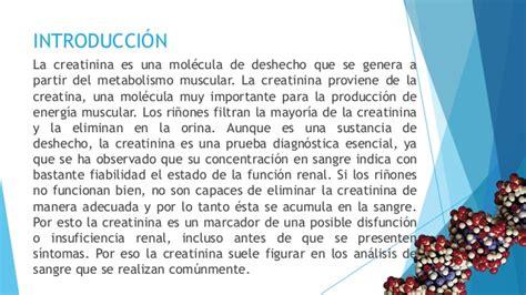 creatinina y creatinina la creatinina escuelapedia recursos educativos