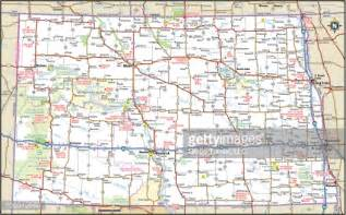 nd road map dakota highway map vector getty images