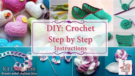 step by step crafts for diy crochet step by step with pictures k4