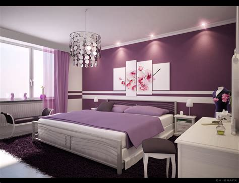 purple bed room home interior designs simple ideas for purple room design