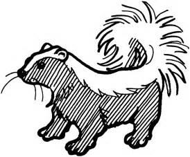 coloring skunk free printable downloads choretell