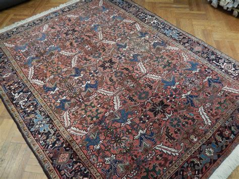 how big is 8x10 rug rust vintage 8x10 semi antique heriz wool rug ebay