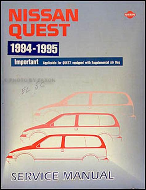 nissan quest 1994 2009 workshop service repair manual download ma 1994 1995 nissan quest van repair shop manual original