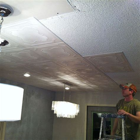 How To Cover Textured Ceiling by Home Dzine Home Decor Cover Up Popcorn Or Textured Ceiling