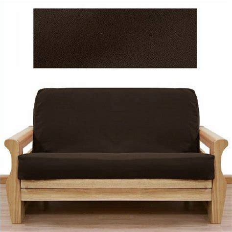 micro suede futon cover soft micro suede solid mocha brown full or double size