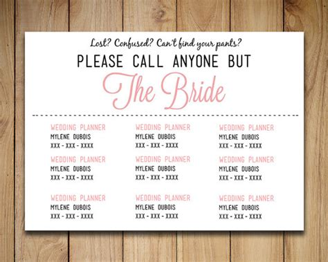 diy wedding information card template please by