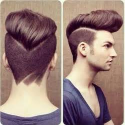 view from back of pompadour hair style epic pompadour with undercut hairstyle picture best