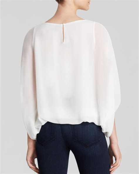 Blouse Batwing lyst vince camuto batwing blouse in white