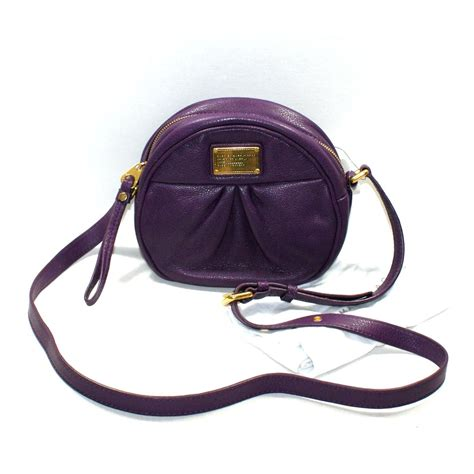 swing bag marc by marc jacobs pansy purple genuine leather crossbody