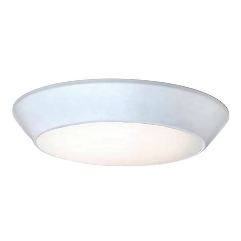 convert recessed light to flush mount lithonia lighting 25 watt white led chain mount shoplight