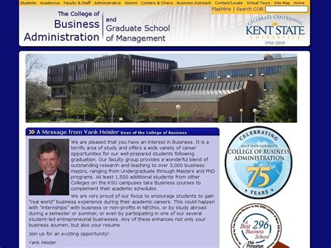 Kent Mba Cost by Kent State Graduate School Of Management