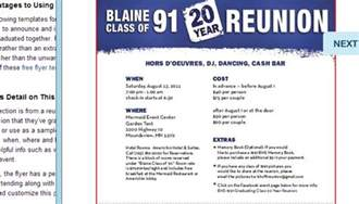 Class Reunion Template by 5 High School Reunion Flyer Templates Af Templates