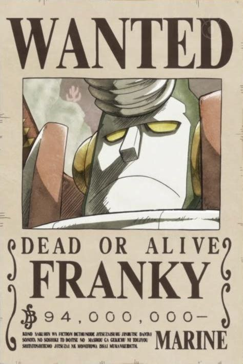 wanted poster design liren by liren on deviantart image cyborg franky s wanted poster png one piece wiki