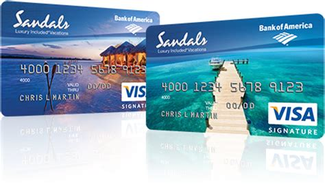 Bofa Visa Gift Card - about bank of america sandals visa signature credit card