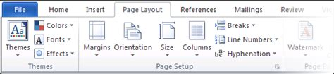 page layout in word 2010 word 2007 and word 2010 ribbon tutorial shaunakelly com