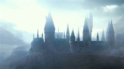 harry potter   deathly hallows hogwarts  cloudy
