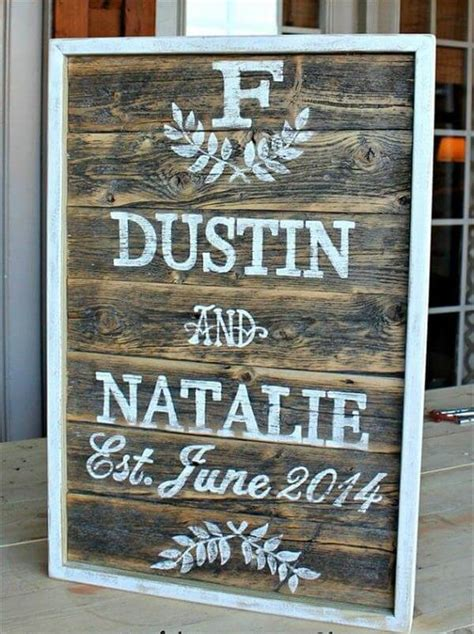 Handmade Sign Ideas - 10 diy pallet sign ideas for wedding 99 pallets