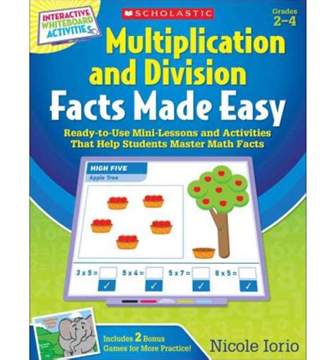 math facts for minecrafters multiplication and division books interactive whiteboard activities multiplication and