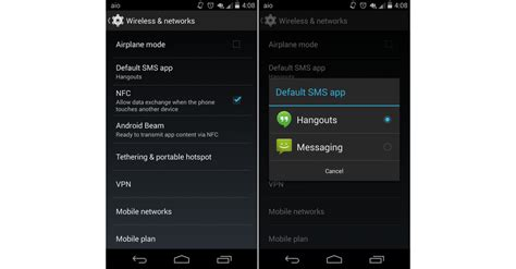 android change default app how to change default sms app in android kitkat gizmostorm