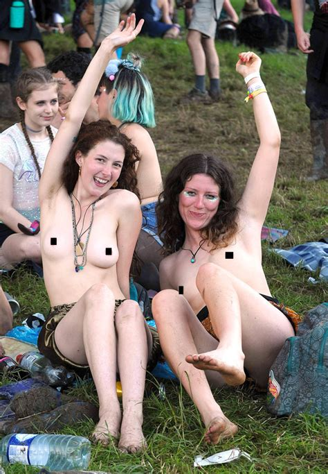 Glastonbury Girls Get Naked And Flash Boobs As Weather Clears Up Daily Star