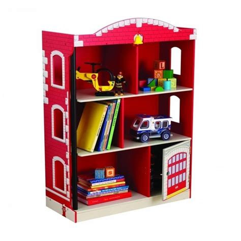 kidkraft firehouse bookcase 76026