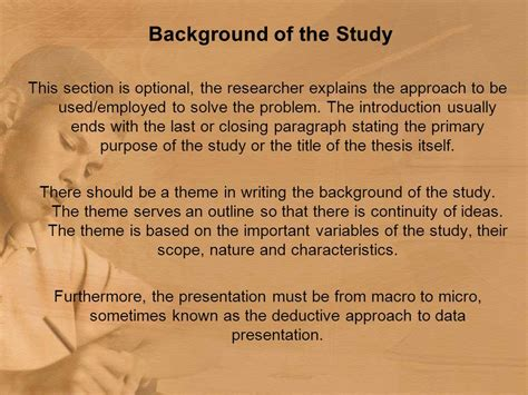 How To Make Background Of The Study In Research Paper - chapter 1 the problem and review of literature and studies